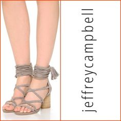 Jeffrey campbell, 7.5, Despina strappy sandal strappy and sexy for summer..introducing, Jeffrey campbells, despina sandal, taupe, size 7.5.. current style.. now in stores. 2.5 inch heel. Good preowned condition, have been worn a few times, no flaws, wear on bottomsno trades Jeffrey Campbell Shoes Sandals
