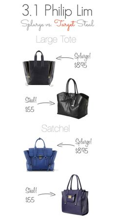 Philip Lim Handbags - splurge vs steal with the exclusive collection for Target