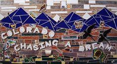 Colorado     Chasing A Dream. Colorado Themed Mosaic Art By Mike Squared Mosaics #ContemporaryArt