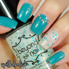 Teal Accents #notd #nailpolish #nailart