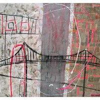46° 52′ 46″ N 71° 08′ 04″ W - Ile d'Orléans   91 x 91 cm   Techniques mixtes sur toile