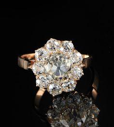sensational Victorian 342Ct diamond Austro by hawkantiques on Etsy