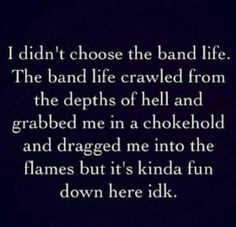This is how I am feeling.....I am slowly building an addiction and love for my child's involvement in marching band.