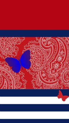 3D Butterfly Wallpaper Red