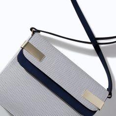 ZARA - NEW THIS WEEK - STRIPED MESSENGER BAG