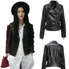 (42.00$)  Watch here  - High Quality Black PU Leather Motorcycle Jackets Womens Autumn Winter Mother Clothes 2017 Spring Ladies Zipper Outerwear Coats