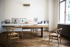 Another view of the studio, including recently installed pieces from her contemporary art collection (Photograph by Jil Sander)
