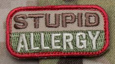Stupid Allergy Morale Patch