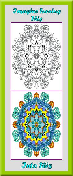 Coloring Book Pages Printable Mandala Art Therapy Zen Colors Outlines Colouring
