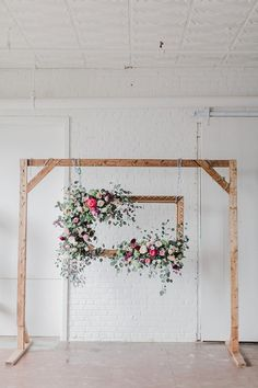 Adore this ceremony set up using our Wooden Truss and Vintage Gold Frame! This shoot was created by Annamarie Akins , Whimsy Event Planning and Amanda Veronee at Highpoint & Moore! Backdrop Frame, Backdrop Stand, Backdrops, Enchanted Wedding Inspiration, Diy Wedding, Rustic Wedding, Vintage Wedding Sets, Wedding Set Up, Wedding Shoot