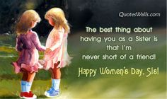 Happy Women's Day Quotes For Sister - Quotes Wallpapers