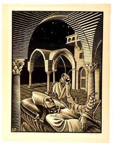 'asd', lithographie von Maurits Cornelis Escher (1898-1972, Netherlands)