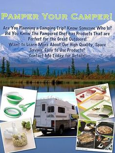 Pamper your Camper!   So many great choices from The Pampered Chef to help you prep and enjoy meals away from home this summer!  www.pamperedchef.biz/paulahrycak