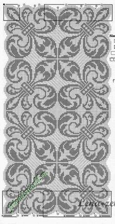 Filet Crochet Charts, Crochet Cross, Knitting Charts, Thread Crochet, Knitting Stitches, Crochet Doilies, Cross Stitching, Cross Stitch Embroidery, Embroidery Patterns