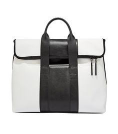 Graphic Arts: Shop the chicest pieces in bold black and white at #ShopBAZAAR - 3.1 Phillip Lim Tri-Color 31 Hour Bag
