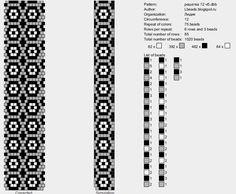 Bead Crochet Pattern, 12 around: