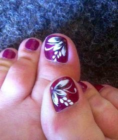 Toe Nail Art Ideas: Here are some simple nail art ideas for toes, which you can try yourself. Description from pinterest.com. I searched for this on bing.com/images