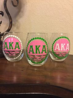 The design is applied using a premium commercial quality outdoor vinyl. This is the same vinyl that is used on outdoor signs. Alpha Shirt, Alpha Kappa Alpha Sorority, Zeta Phi Beta, Sorority And Fraternity, Aka Sorority Gifts, Pink And Green Dress, Greek Gear, Greek Gifts, Outdoor Signs