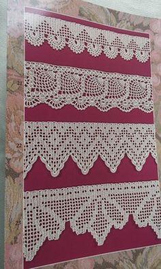 42 Edging Designs for Crochet, Knitting, and Tatting