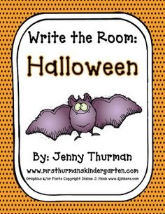 This freebie can be used for a Write the Room center.  It contains 8 Halloween picture cards to hang around the room and a recording sheet that students will copy the Halloween words on.  Just print, cut & laminate picture cards and recording sheet just needs to be photocopied and cut in half.