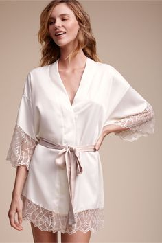 BHLDN Cosette Kimono Robe in  Bride Bridal Lingerie | BHLDN