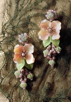 hawthorn rose floral beaded jewelry
