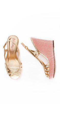 $198 Sophie Strap Wedge via boutiika.com