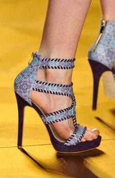 Nicole Miller Spring 2014 runway shoes