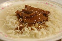 Hong Kong Ramen with satay beef (沙爹牛肉麵)