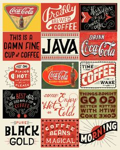 Perfect match- Coca cola and coffee :) I've made this from one pic I found on Pinterest, 4 me (coffee lover) and my boyfriend (coke drinker)... It's hanging in our kitchen now! :)