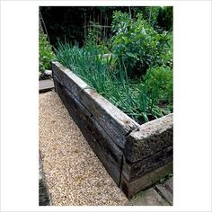 Railway sleeper box garden  I have loads of these on one side, but need more for the other side..!!!