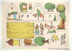 LAMINA RECORTABLE PUBLICIDAD EMULSION DE SCOTT MODELO BARRACA VALENCIANA. VALENCIA AÑOS 50 - Foto 1