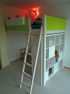 Loft bed made of construction wood Construction instructions for building yourself- Hochbett aus Konstruktionsholz Bauanleitung zum selber bauen Loft bed made of construction wood Construction instructions for building yourself -