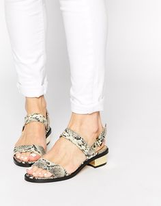 Image 1 ofASOS FANCIFY Two Strap Sandals