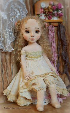 Анна Королёва  \    Текстильная Авторская Коллекционная кукла - Вера