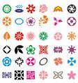 Flower set colorful icon images vector image