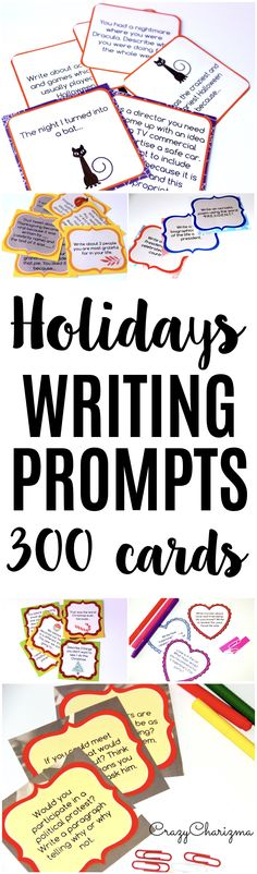 Halloween Writing Prompts {36 cards} Prompts, Students and Writing - halloween writing ideas