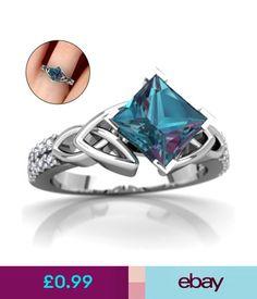 Rings Women Princess Cut 3.08Ct Mystic Rainbow Topaz Engagement Ring Size 6,7,8,9,10 #ebay #Fashion