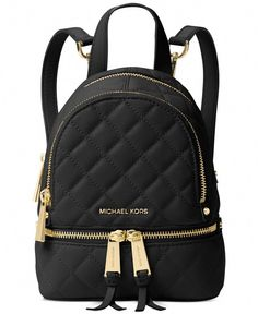 90dce7906d3 Top-of-the-class style abounds with Michael Michael Kors  chic quilted  leather messenger backpack.