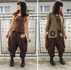 Steampunky mori boy (●´∀`●) Shirts: thrifted and altered Pants: thrifted and altered Shoes: El Naturalista