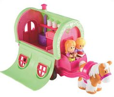 ELC- Happyland Roaming Rose Caravan with Horse Learning Centers, Early Learning, Games For Kids, Caravan, Toy Chest, Playroom, Centre, Toys, Children
