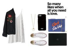 """Без названия #31"" by kristinkkaa on Polyvore featuring мода, Chicwish, Lizzie Fortunato, Converse, Givenchy и Tucano"