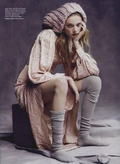 """Vogue Austrália Agosto 2013   Holly Rose Emery em """"Wild Rose"""" por Nicole Bentley [Editorial] Blog de Moda"""
