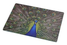 Rikki Knight RK-LGCB-231 Peacock with Open Feathers Glass Cutting Board, Large, Light Pink >>> Hurry! Check out this great product (This is an amazon affiliate link. I may earn commission from it)