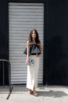 cool top. Leandra in NYC. #LeandraMedine #ManRepeller