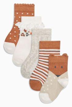 Kaufen Sie Socken mit Blumenmuster im 3er-Pack, ecru/braun (Jüngere Mädchen) heute online bei Next: Deutschland