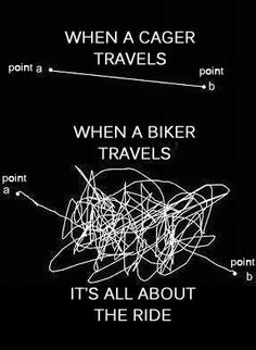 Difference between traveling in a car vs motorcycle :)