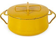 1950s Yellow Dansk Casserole  Отличный акцент среди кастрюль из нержавейки. Хочу!