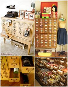 I want a library catalog shelf thing! I wonder where you find them...