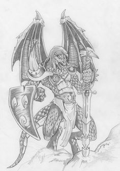 Draconian Knight by Morbius666